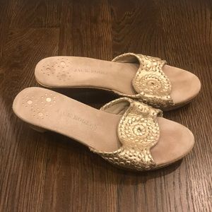 Jack Rogers • heels • size 9 • gold